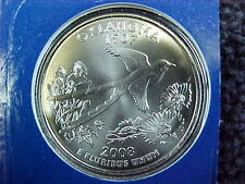 9 - 2008 P OKLAHOMA STATE QUARTERS FROM MINT SETS BU IN CELLO