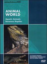 ANIMAL WORLD - Aquatic Animals & Ravenous Reptiles - Documentary DVD NEW SEALED