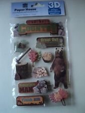 PAPER HOUSE OUT IN THE COUNTRY 3D STICKERS BNIP *NEW*