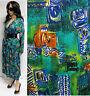 """Authentic"" 80's Women's Ethnic Print Jacket Goucho Palazzo Pant Suit/Set Sz Lg"