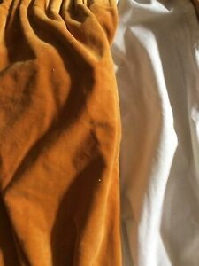 "ONE SINGLE Mustard Gold Cosy VINTAGE VELVET DOOR CURTAIN 64"" Wide 81"" L Blackout"