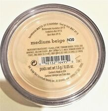 Bare Minerals SPF 15 Matte Foundation N20 Medium Beige Brand New 100% Genuine