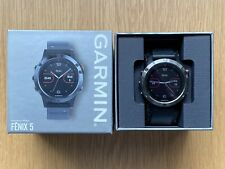 Garmin Fenix 5 Slate Grey Black Band GPS Smartwatch - Boxed Excellent Condition