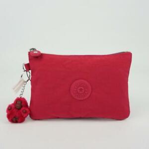 KIPLING VIV Pouch Accessory Bag Cosmetic Case Deep Pink RZ