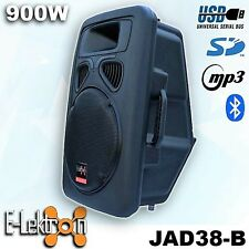 15 inch 38CM 900W Active Speaker Loud Digital Sound System PA SD/USB & Bluetooth