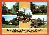 EISENBAHN Motiv AK DDR Lokomotive Bahnhof Walthersdorf, Schlettau, Crottendorf