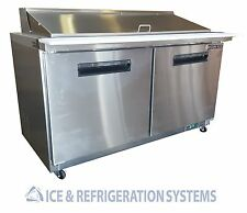 "Sun Ice 60"" Commercial Salad & Sandwich Mega Top Prep Table Cooler SUNST-60-24"
