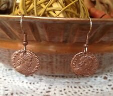 Ancient Roman Coin Earrings Jewelry Actual Ancient Roman Coins