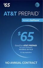 At&T Prepaid $65 Preoladed Sim Card Unlimited Data (2-3 Days shipping )