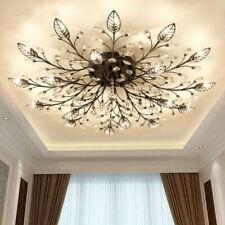 Modern LED K9 Crystal Ceiling Light Fixture Chandelier Bedroom Ceiling Lamp