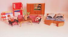 DDR Puppenstube Puppenküche Möbel Puppen Holz Plastik 1950 - 1970 !