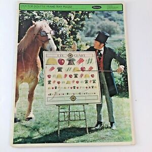 Vintage Whitman Frame Tray Puzzle 1967 Doctor DooLittle No. 4568 Eye Chart