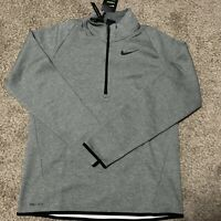 Nike Quarter-Zip Therma Top Jacket Dark Grey Heather Mens Size Small 932041-063