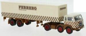 58506 Brekina HO scala 1:87 Millepiedi Fiat 690 Ferrero Scritta moderna
