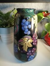 JACOBEAN ENGLAND Royal Stanley Ware Circa 1930 Large Hand Painted Vase