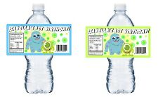 20 BABY MONSTERS INC PERSONALIZED BIRTHDAY PARTY FAVORS ~ WATER BOTTLE LABELS