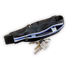 Slabo Neopren Handy Gürteltasche für Smartphone und Schlüssel SCHWARZ / BLAU