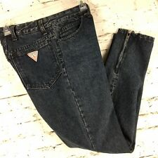 Guess Jeans Georges Marciano Stone Wash Black High Waist Women's 28 Vintage 90s