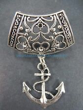 scarf charm nautical anchor pendant slider bail