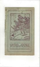 Walsall v Arsenal FA Cup Football Programme 1932/33