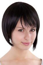 Perruque avec fransigem carré noir marron bobschnitt coiffure 8525-2 ca.25 cm