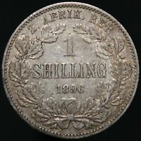 1896 | South Africa 1 Shilling | Silver | Coins | KM Coins