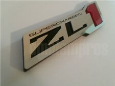 GM LICENSED, ZL1 'ZR1' MIRROR STAINLESS STEEL & ACRYLIC EMBLEM BADGE