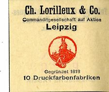 CH. LORILLEUX & Co. Leipzig 10 encres usines trademark 1912