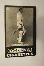 1901 -Vintage -Ogden's -Series D -TAB Cricket Card - K.S. Ranjitsinhji - at Hast