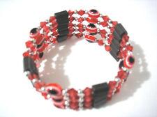 Red Plastic Bead Evil Eye Magnetic Necklace Bracelet #6219