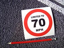 70 mph limitata Adesivo Decalcomania Van 115mm di dimensioni Transit Citroen Fiat Vauxhall Luton