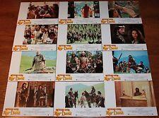 Richard Gere lobby card set 12 King David biblical Edward Woodward Alice Krige