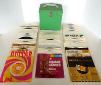 Vintage Vinyl Records Collection 45s Platter Pak 43 Pc Lot Polka Country 60s 70s