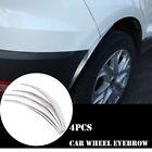 4pcs Chrome Car Wheel Eyebrow Arch Protector Trim Lips Fender Flares Universal