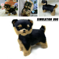 Realistic Yorkie Dog Handmade Simulation Cute Toy Dog Puppy Kids Christmas Gifts