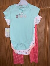 Nwt Baby Gear Brand Girls 3pc Outfit Sz 6/9mo
