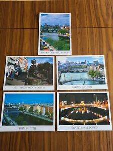 Selection of 5 Postcards of Dublin (Ireland) as new (set 2)