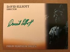 FOUR FEATHER FALLS: AUTOGRAPH CARD: DAVID ELLIOTT - DIRECTOR DE1 - GREEN INK