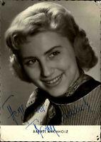 Autogrammkarte Autograph Film Bühne DDR Fernsehen signiert BÄRBEL WACHHOLZ ~1958