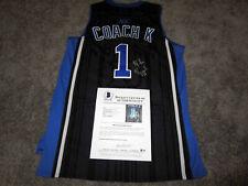 MIKE KRZYZEWSKI Coach K Duke Blue Devils SIGNED Custom #1 JERSEY w/ BAS COA XL