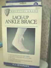 Lace Up Ankle Brace X-Large  Canvas FLA Orthopedics