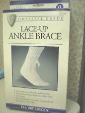 FLA Orthopedics Canvas Lace Up Ankle Brace XL
