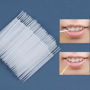 Interdental Brush Pick Double Teeth Cleaning Toothpick Oral Care Head Floss Soft