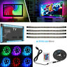 4 x 50CM PC TV LED Backlight USB RGB LED Strip Light Remote Kit 5V 30Leds/M US