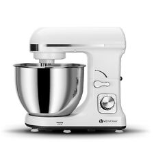 Ventray Stand Mixer 6-Speed 4.5-Quart Stainless Steel Bowl - White