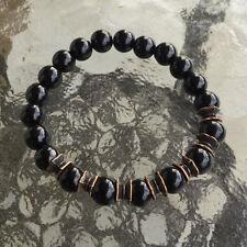 8 mm Black Onyx Wrist Mala Beads Healing Bracelet - Blessed & Energized