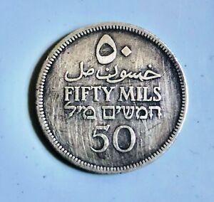 (2) 1935 Palestine 50 Mils coin