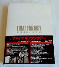 FINAL FANTASY SPIRITUAL EDITION JAPAN 2 DVD 2002 w/OBI Card Booklet ASBY-2084