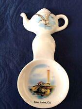 New Handmade Ceramic-Porcelain Tea Bag Spoon Rest Caddy Lighthouse Pt Arena, Ca