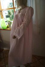 KATZ USA Nylon Nachtkleid Negligee rosa schmusig weich Satinblüte Luxus M